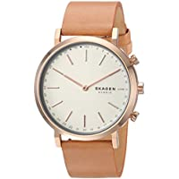 Skagen Hald Rose Gold Stainless Steel & Leather Hybrid Smartwatch SKT1204