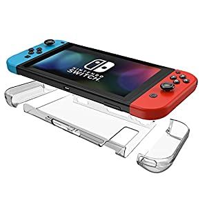 Komost Nintendo Switch カバー 本体カバー+Joy-Con 全面保護カバー  ニンテンドースイッチ カバー クリア ハードケース 高透明