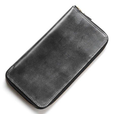 (グレンロイヤル) GLENROYAL ラウンドファスナー 長財布[小銭入れ付き] LEATHER BLACK [並行輸入品]