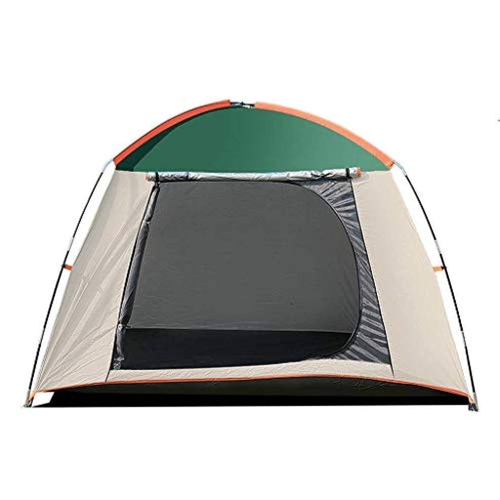 日没もっともらしい面倒CGH 2人家族用キャンプテント二層家族キャンプ用テント4シーズン防水インスタントセットアップ付き (色 : 緑)