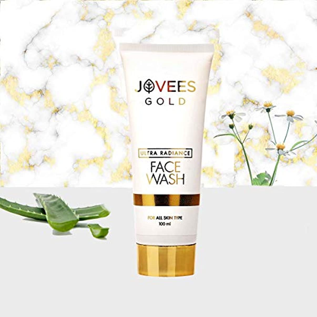 並外れて九伝説Jovees Ultra Radiance 24K Gold Face Wash 100ml to help bring glow and radiance 輝きと輝きをもたらすのを助けるためにJovees Ultra...
