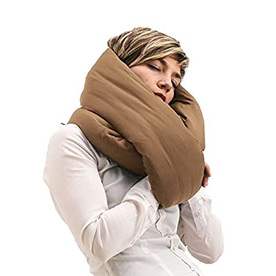 Huzi Infinity Pillow - Design Travel Pillow and Soft Neck Support Pillow - Machine Washable
