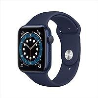 AppleWatch Series 6(GPSモデル)- 44mmブルーアルミニウムケースとディープネイビースポーツバンド