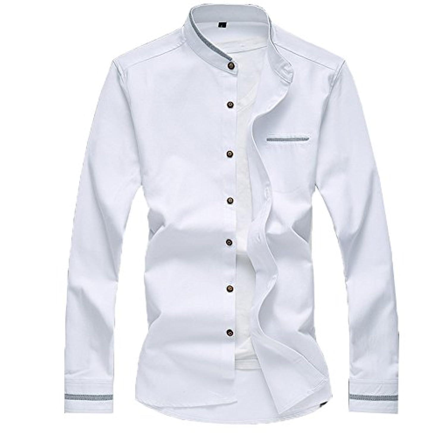 軽減するシリング送ったVictory Man(ビクトリー メンズ) デニムシャツ メンズ ワークシャツ 無地 長袖 シンプル ビジネス カジュアル 大きサイズ ファション