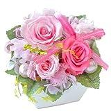 花由 プリザーブドフラワー パレット shellpink 淡いピンク