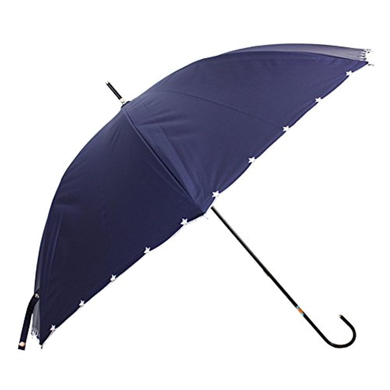 [晴雨兼用ショート] スタースカラ刺繍スレンダー 50cm 晴雨兼用パラソル