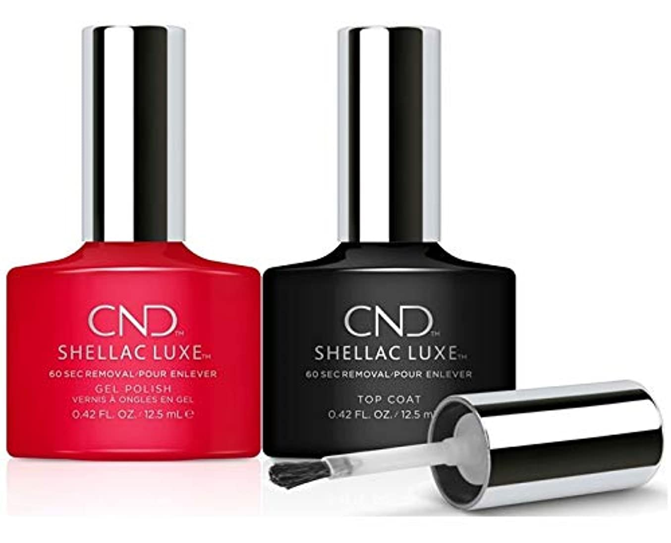 ナプキン言及する詳細なCND Shellac Luxe - Femme Fatale and Top Coat Duo Pack - 12.5 mL / 0.42 oz Each