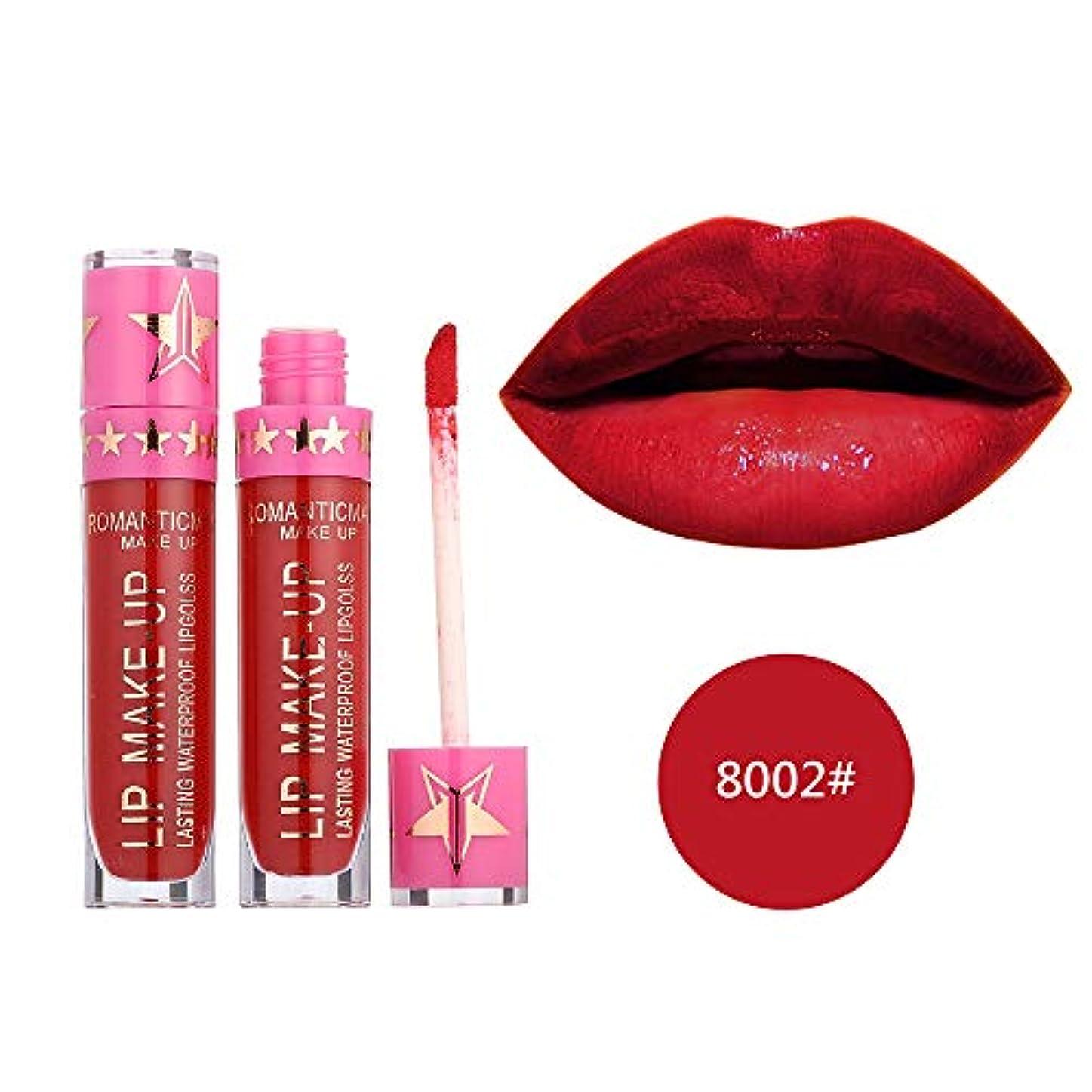 たっぷり統計出くわす口紅 リップグレーズ つや消し リキッド リップスティック 液体 ロマンチック リップバーム 防水 長続き リップクリーム 化粧品 美容 メイクギフト リップラインの色を鮮やかに描くルージュhuajuan (B)