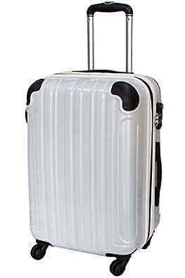 [シェルポッド] スーツケース ハード 4輪 HZ-500 保証付 45L 58 cm 4kg カーボンホワイト