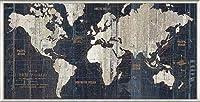 ポスター アーティスト不明 Old World Map Blue 額装品 アルミ製ベーシックフレーム(ライトブロンズ)