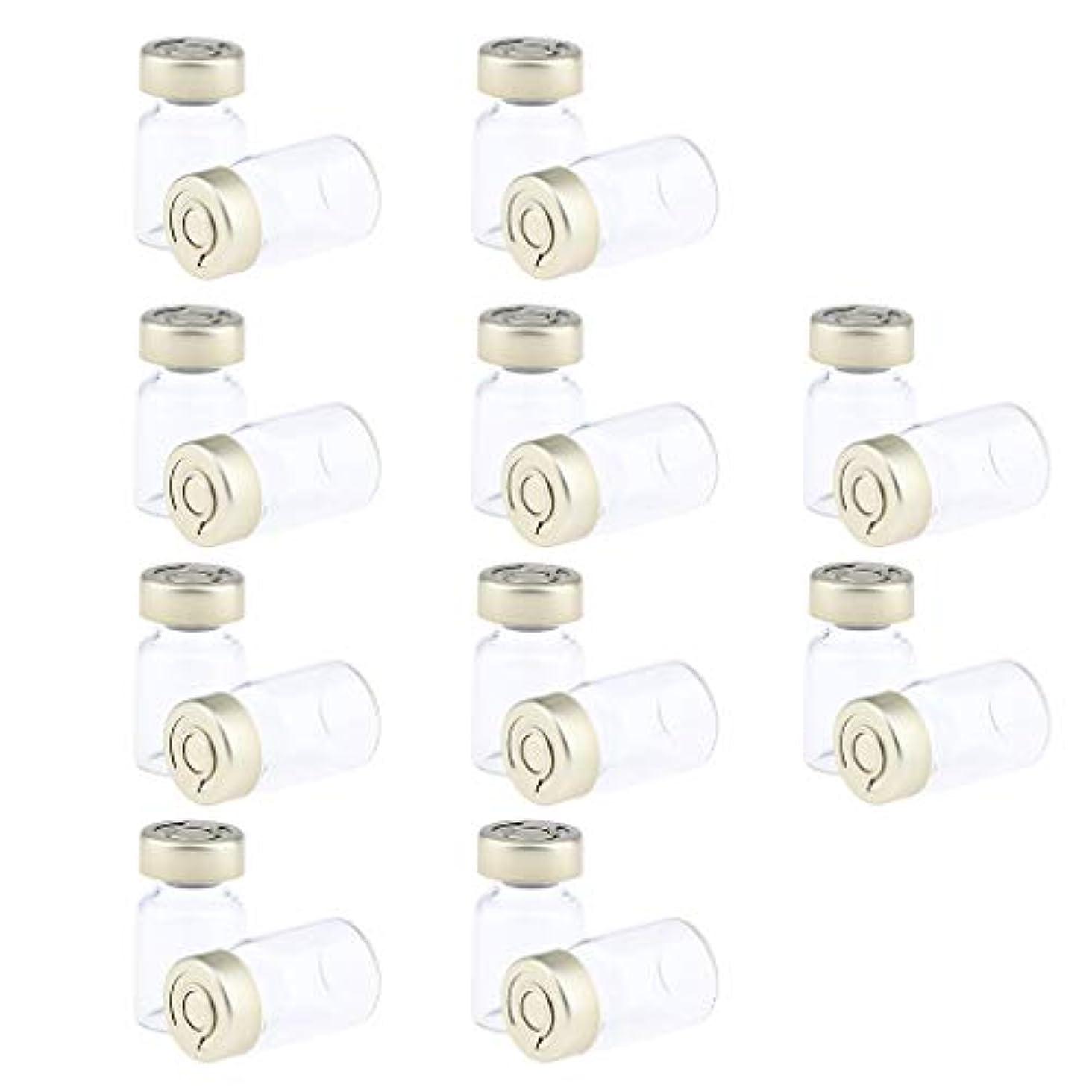 高く海洋しない約20個 密封バイアル 空ボトル ガラス密封 セラム バイアル びん 液体容器 3サイズ選べ - 5ミリリットル