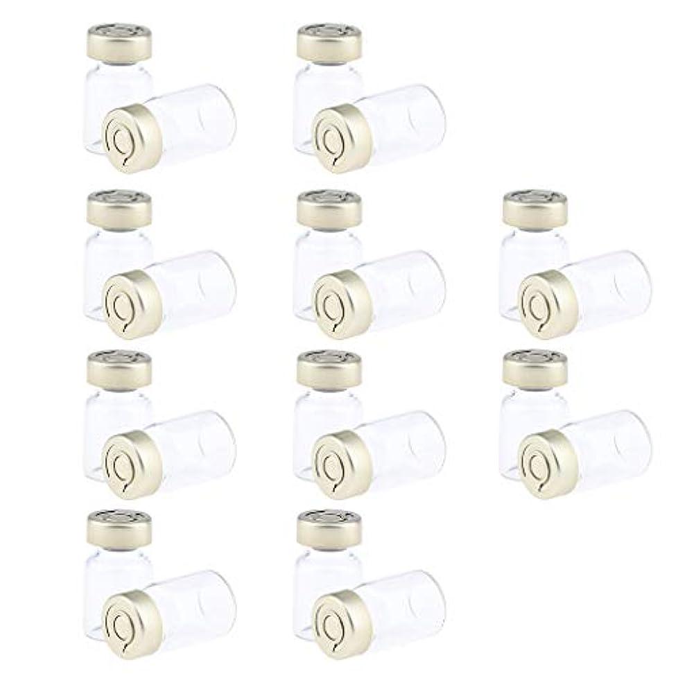 で出来ている安らぎ耐えられる約20個 密封バイアル 空ボトル ガラス密封 セラム バイアル びん 液体容器 3サイズ選べ - 5ミリリットル