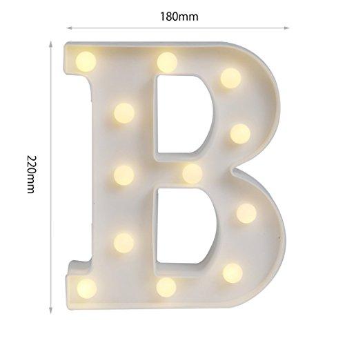 LED イルミネーション イニシャルライト アルファベットライト ホームイベント インテリア ギフト B