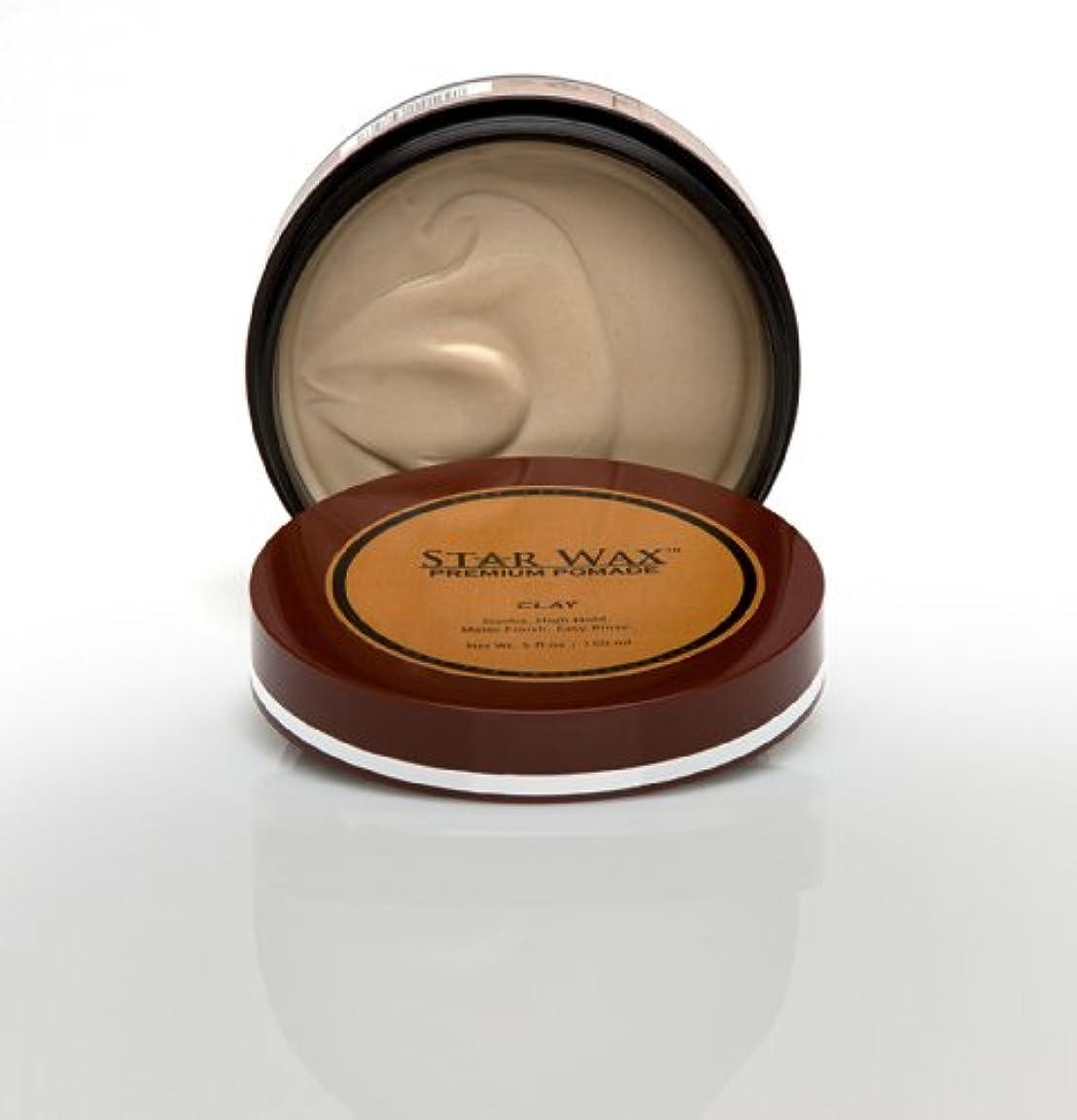 サークル分析的ダイアクリティカルStar Wax | Premium Pomade, Clay(スターワックスプレミアム ポマード「クレイ」)?Star Pro Line(スタープロライン)製?5(液量)オンス/150ml