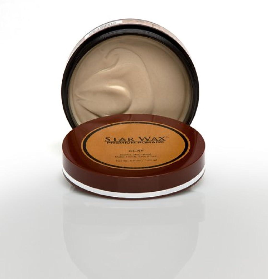 クリーク報奨金スペクトラムStar Wax   Premium Pomade, Clay(スターワックスプレミアム ポマード「クレイ」)?Star Pro Line(スタープロライン)製?5(液量)オンス/150ml