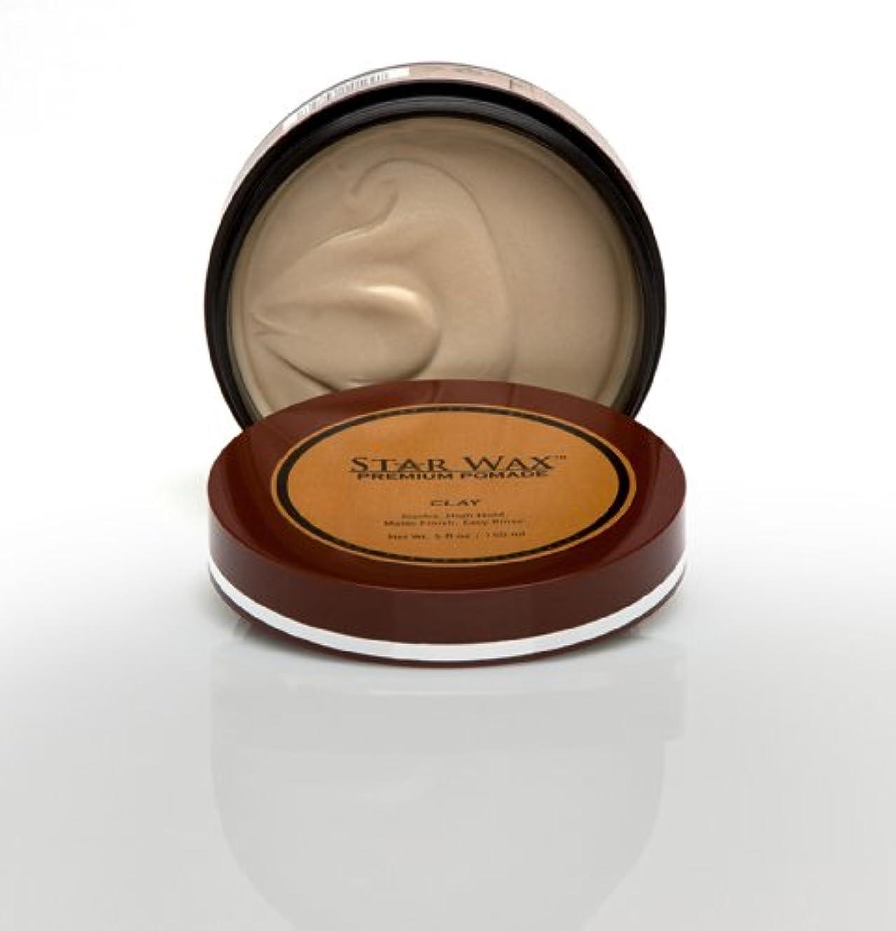 静かに無関心宿泊施設Star Wax | Premium Pomade, Clay(スターワックスプレミアム ポマード「クレイ」)?Star Pro Line(スタープロライン)製?5(液量)オンス/150ml