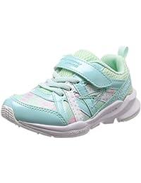 [シュンソク] 運動靴 通学履き 瞬足 幅広 衝撃吸収 高反発 15~23cm キッズ 女の子 LEC 5280 サックス/白底 21 cm 3E