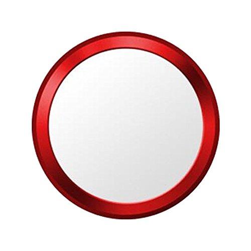 指紋認証機能対応 ホームボタンシール 取付簡単 1枚入り(レッドフレーム/ホワイト)
