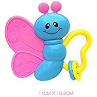 Dalinoベイビーズおもちゃかわいいベル漫画赤ちゃんTeether Rattle教育玩具おもちゃ(バタフライ)