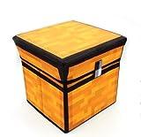 マインクラフト(MINECRAFT) お片づけボックス 頑丈 ストレージ スツール 収納 子供部屋 フタ付 30 x 30 x 30