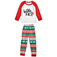 Christmas Pajamas Set,2 PCS Family Matching Clothes for Christmas Pajamas Set Print Words Xmas Sleepwear Nightwear for Adults,Boys,Girls,Toddlers