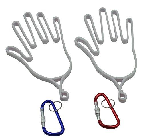 ZERONOWA(ゼロノワ) 型崩れ防止 グローブ ハンガー 手袋 ホルダー ゴルフ アウトドア (白2個セット)
