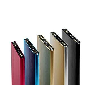 Thinny8800 モバイルバッテリー 大容量 8800mAh 充電器 ポータブル 薄型 軽量 2ポート USB 急速充電 iPhone Android au docomo softbank ipad 対応 (ブルー)