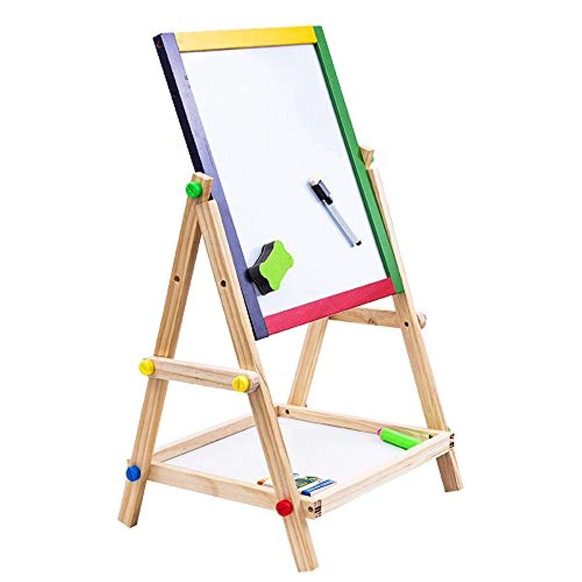 アコード不潔工業用お絵かきボード 子供 3-in-1 Art Easel - 1収納コンパートメント付き黒板と磁気ホワイトボード、調節可能 落書きボード (Color : Natural)