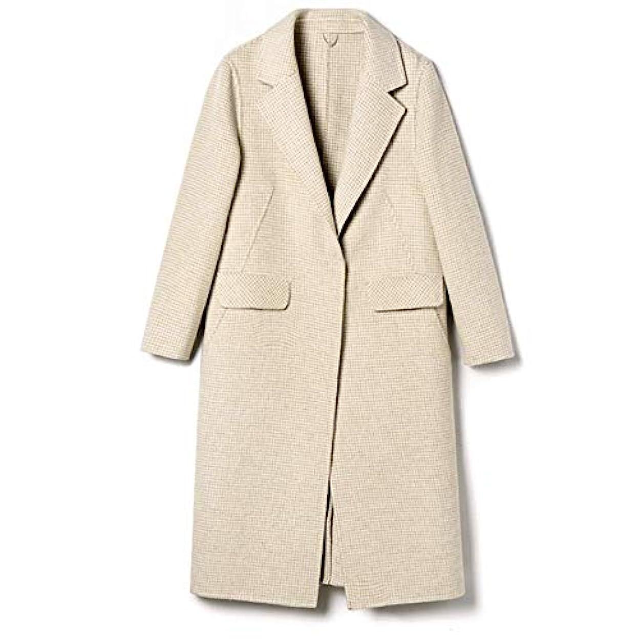 どっちでも幻影悲観主義者秋と冬の新しいウールコート、ハンドメイド両面カシミヤコート長いセクションの女性ウールコートレディースジャケットレディースウインドブレーカージャケット,C,XL