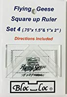 Bloc Loc Flying Geese Square Up Ruler Set 4
