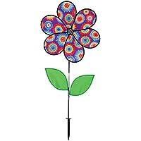 In the Breeze 6-Petal Tie Dye Flower Spinner with Leaves, 19-Inch [並行輸入品]
