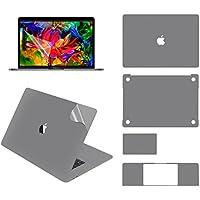 LENTION 全面保護シルバースキンシール 液晶保護フィルム 5点セット 3M技術4H硬度 (NEW 15インチMacBook Pro 2016/2017用)