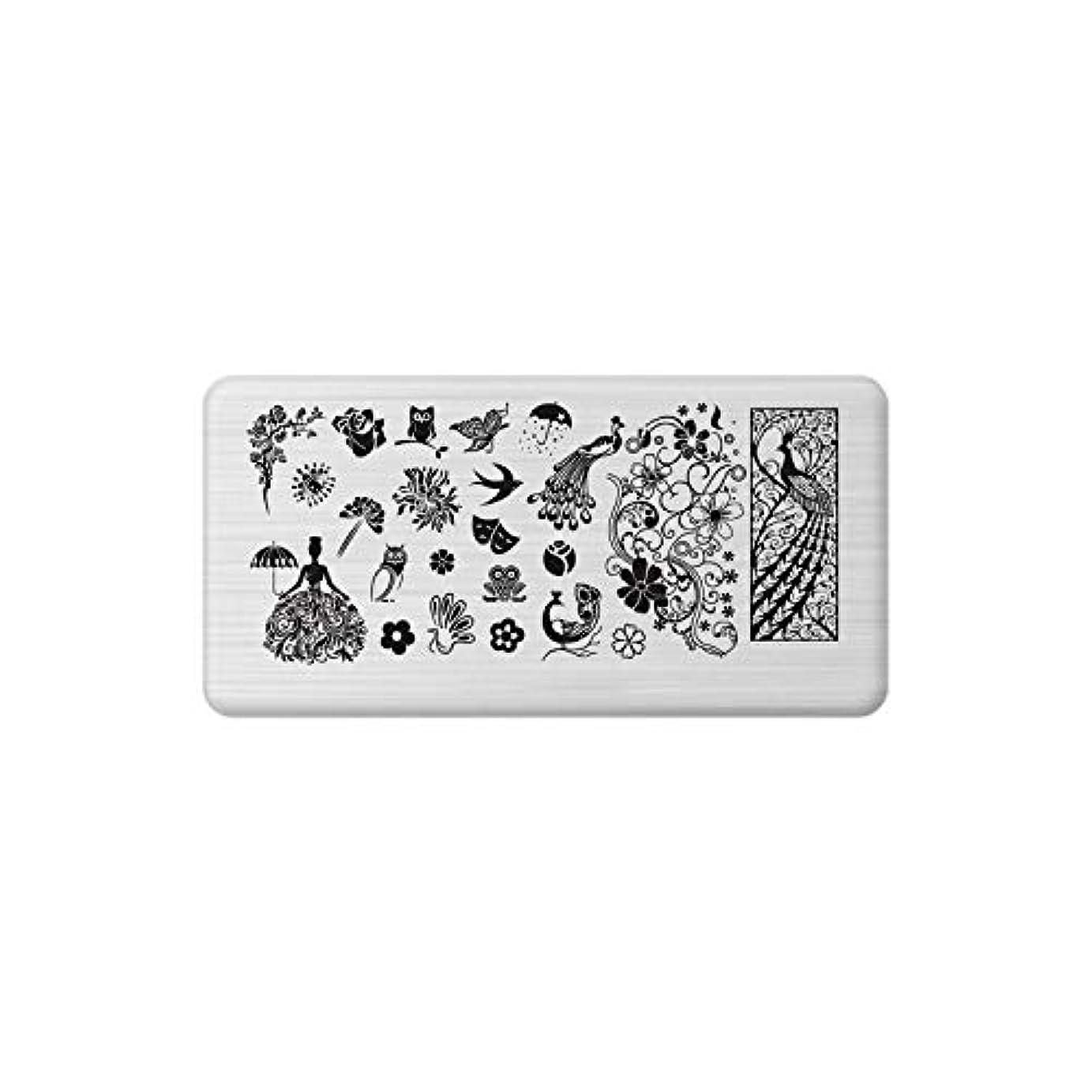 リマ判決義務づけるネイルアートスタンピングプレート用爪ステンレススチールクリスマススノーフレークマニキュアツール,C22