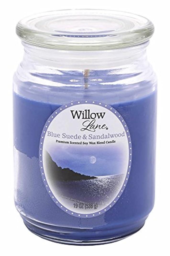 教義ベテランセッションCandle Lite 1646033 Scented Candle、ブルースエード&サンダルウッド、19-oz。Jar 19 oz ブルー 1646033