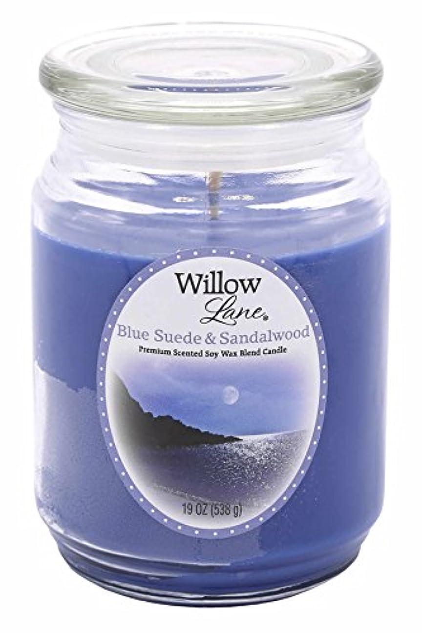 飢アーク雰囲気Candle Lite 1646033 Scented Candle、ブルースエード&サンダルウッド、19-oz。Jar 19 oz ブルー 1646033