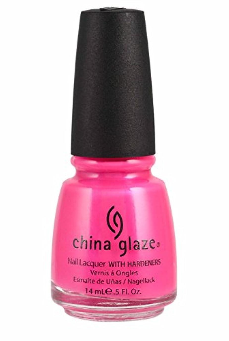 唯一エンドテーブル補うChina Glaze Nail Lacquer 1006 Pink Voltage 70291 (並行輸入品)