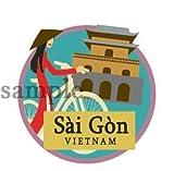 海外旅行観光地ステッカー ベトナム・サイゴン(ホーチミン) 防水紙シール スーツケース・タブレットPC・スケボー・マイカーのドレスアップ・カスタマイズに