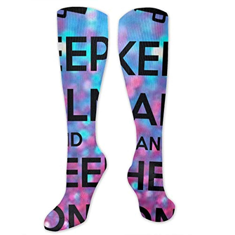 注釈レーザ素子靴下,ストッキング,野生のジョーカー,実際,秋の本質,冬必須,サマーウェア&RBXAA Keep Calm Cheer On Socks Women's Winter Cotton Long Tube Socks Cotton...