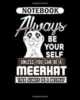 Notebook: meerkat heartbeat  College Ruled - 50 sheets, 100 pages - 8 x 10 inches
