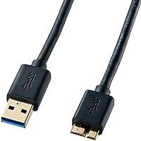 サンワサプライ USB3.0マイクロケーブル(A-MicroB) 1m ブラック KU30-AMC10BK 【まとめ買い3本セット】