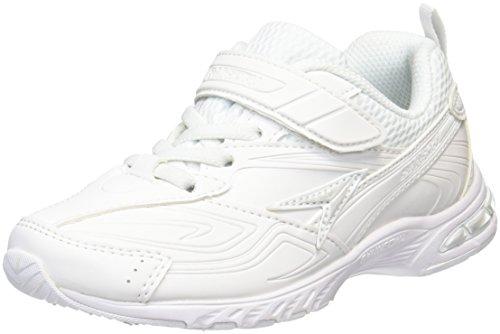 アキレス 通学履き 運動靴 マジックタイプ SJJ 1440 シロ シロ 22 cm 2E