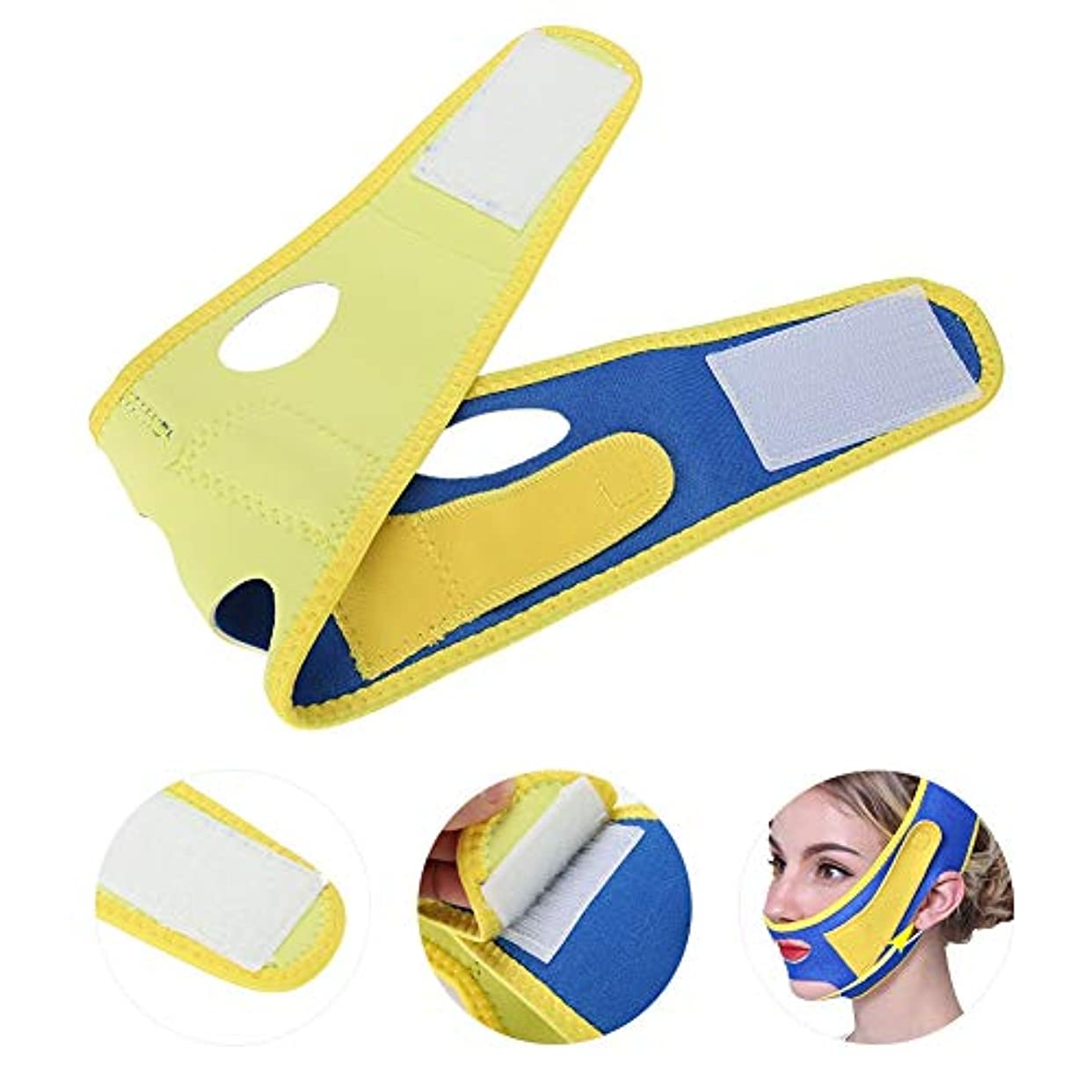 付ける欠員安価な顔の包帯の顔の細くの薄い表面包帯、持ち上がる表面ベルトはしわおよび二重あごを減らします、自然なVの表面頬持ち上がるベルト