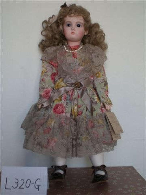 アンティックドール松よし人形限定品アンチックドールグリン花柄ドレスのお人形【l320g】