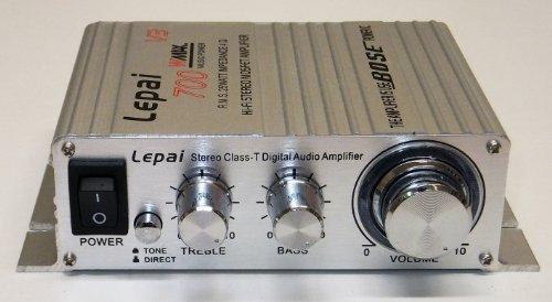 Lepai LP-V3 25W*2 小型アンプ(シルバー)+【PSE規格】12V5Aアダプター付属