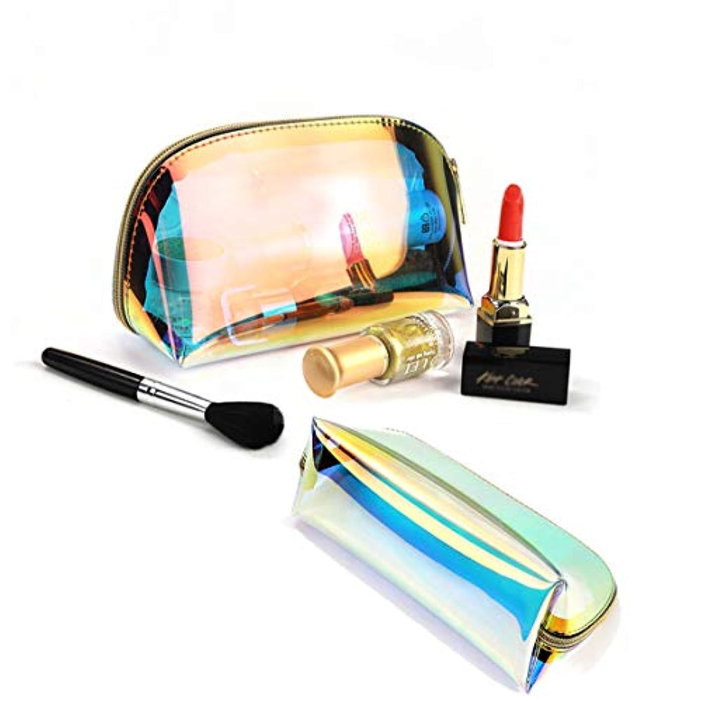 石鹸肝同時BUBM化粧ポーチ がま口 化粧品収納ボックス メイクポーチ防水透明メッシュ温泉、ビーチサイド旅行、出張 (SMALL)