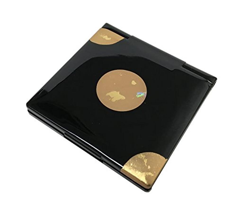 賄賂ご注意分析的な中谷兄弟商会 山中漆器 コンパクトミラー 純金箔工芸 黒 星夜33-0403