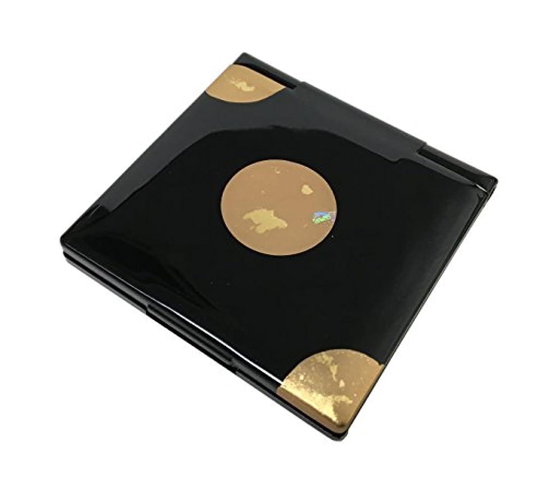 許す不均一小数中谷兄弟商会 山中漆器 コンパクトミラー 純金箔工芸 黒 星夜33-0403