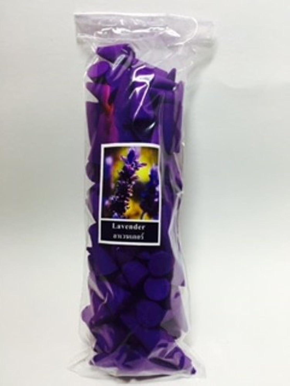 暗いガラガラ内訳Incense Conesラベンダー(パックof 100 Cones )タイ製品