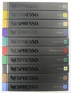 NESPRESSO ネスプレッソコーヒーROMA ・DECAFFEINATO・VOLLUTO・CAPRICCIO・LIVANTO・RISTRETTO・ARPEGGIO・COSI ・FORTISSIO LUNGO・VIVALTOの 10種類×10個×=100個 並行輸入品