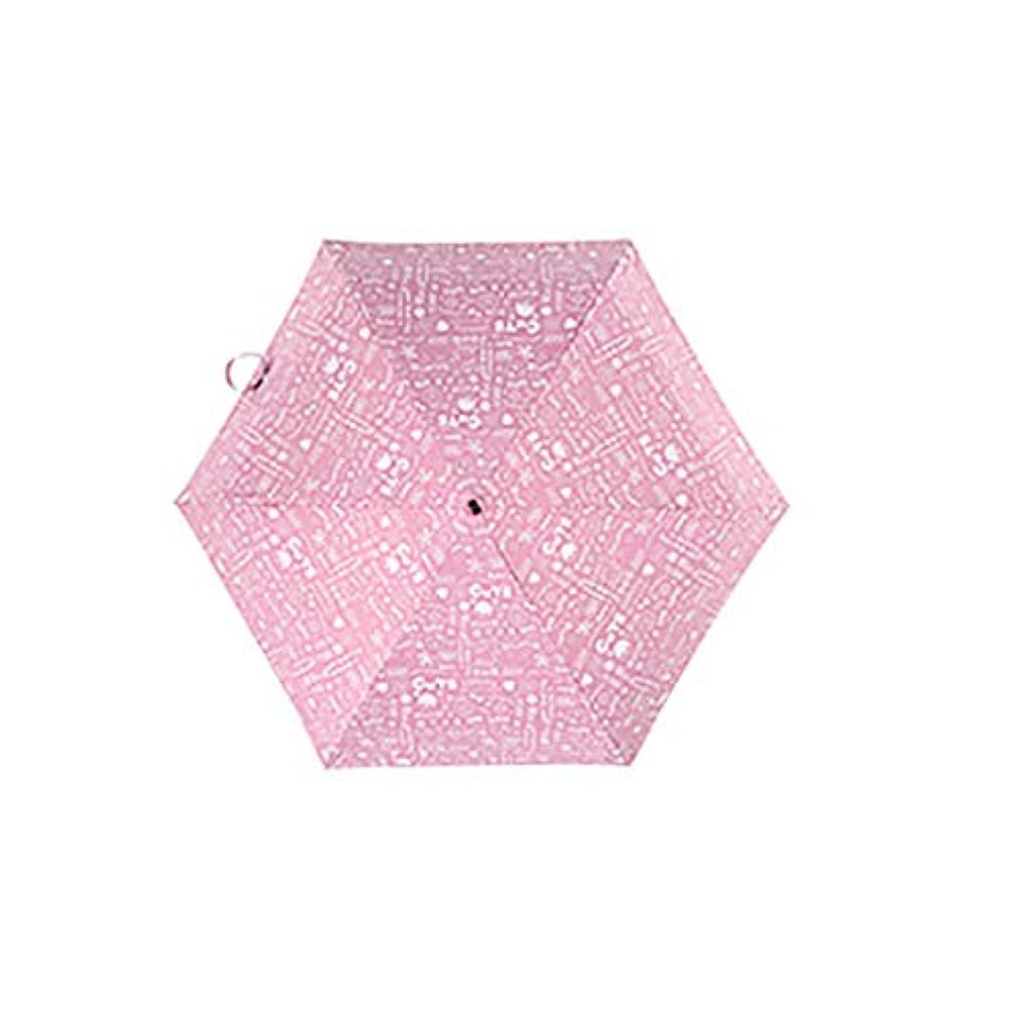 にシード信頼できる日傘傘傘兼用軽量ポータブル超軽量5つ折り傘 (色 : B)